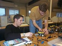 students using LEGO